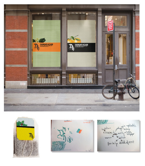 Storefront ads, teabag and process