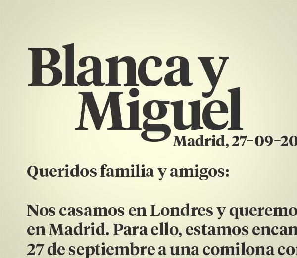 Blanca y Miguel